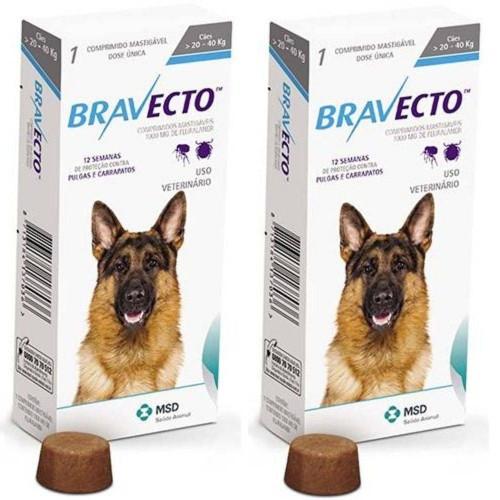Bravecto Anti Pulgas E Carrapatos Para Cães De 20 A 40kg