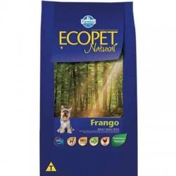 Ração Ecopet Natural Frango para Cães Adultos de Raças Pequenas 15 Kg