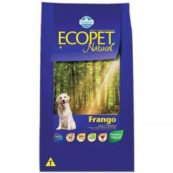 Ração Ecopet Natural Frango para Cães Adultos de Raças Médias e Grandes 20 kg