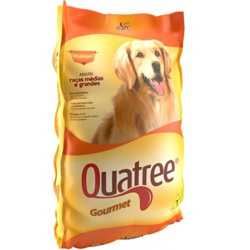Ração para Cães Premium Quatree Gourmet  25 kg Corante.